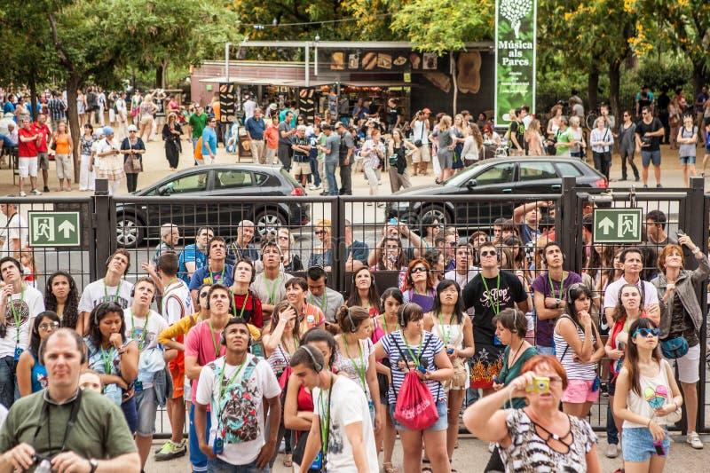 Turyści w Barcelona obraz stock