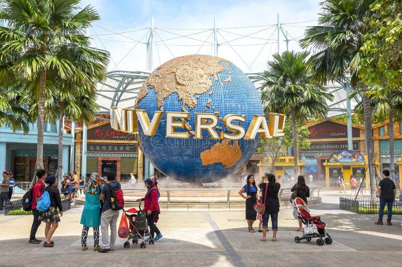 Turyści w universal studio Singapur zdjęcie stock