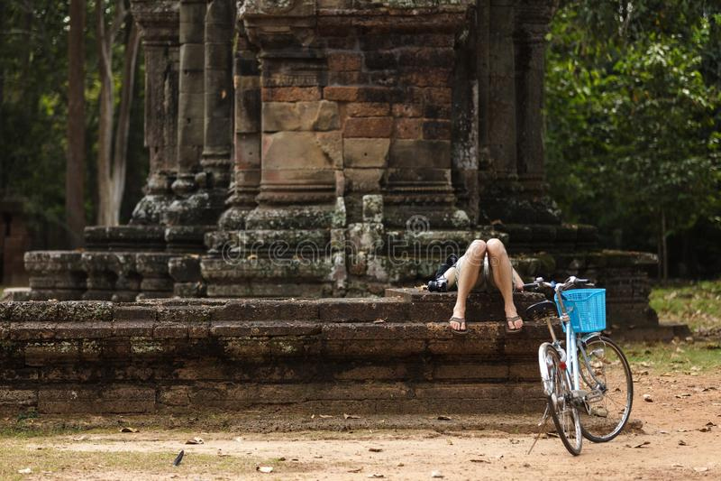 Turysta ma odpoczynek obrazy stock