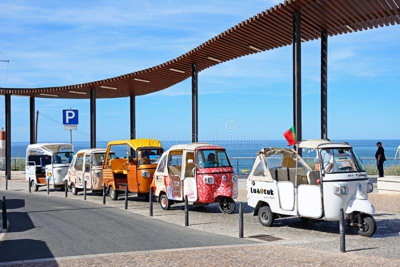 Turysta Tuk Tuks, Albufeira, Portugalia zdjęcia royalty free