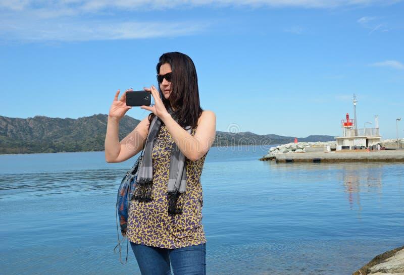 Turysta w Korsykańskim podpalanym świętym zdjęcia royalty free