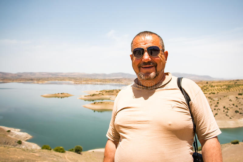 Turysta w podróży wewnątrz przez Maroko zdjęcie stock
