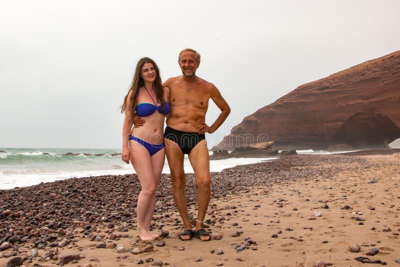 Turysta w podróży wewnątrz przez Maroko fotografia royalty free