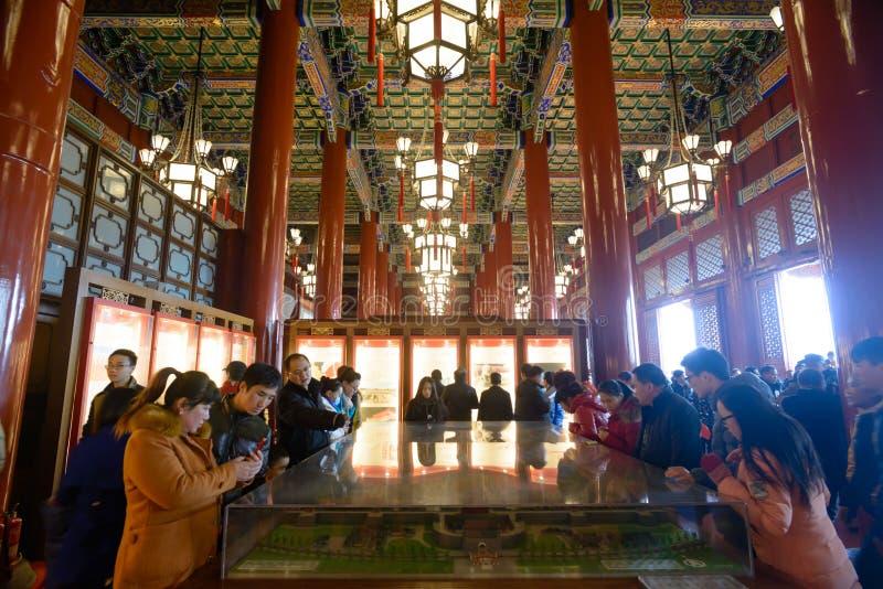 Turysta wizyta Tienanmen Hall fotografia royalty free