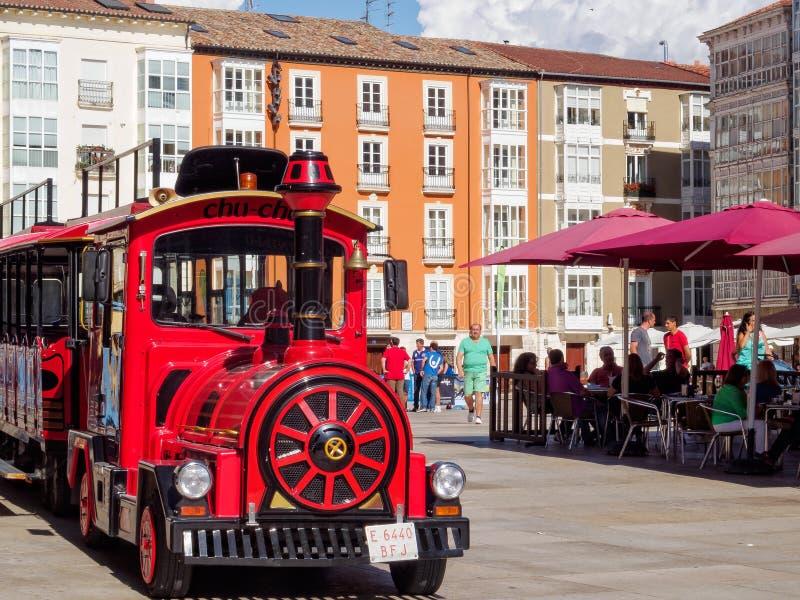 Turysty pociąg - Burgos zdjęcie stock