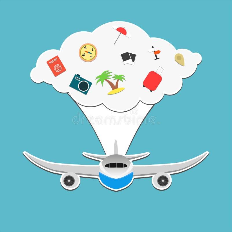 Turysty samolot zdjęcia stock