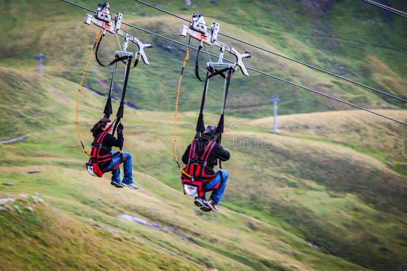 Turystyczna jazda Pierwszy Flier fotografia royalty free