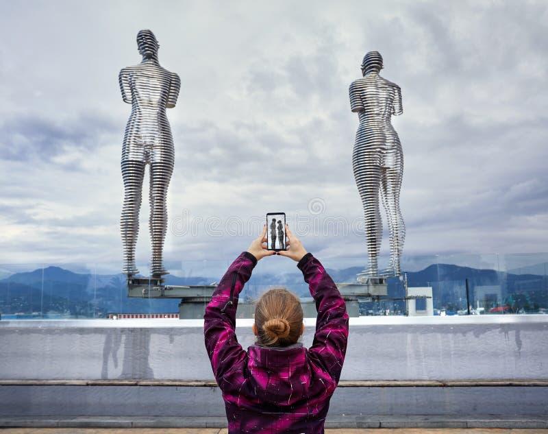 Turystyczna kobieta w Batumi obraz royalty free
