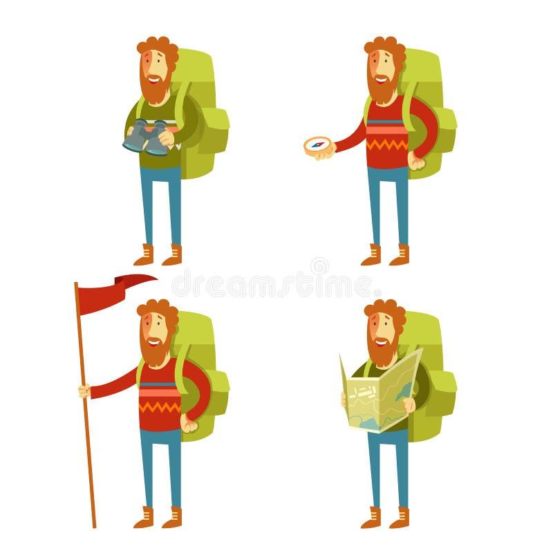 Turystyczne ikony ilustracji