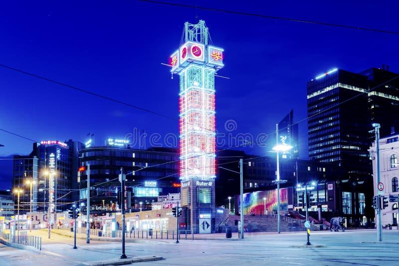 Turystyczny centrum informacyjne w Oslo miasta centrum handlowym na Lipu 28, 2016 w Oslo, Norwegia Oslo miasto jest jeden wielki  fotografia stock