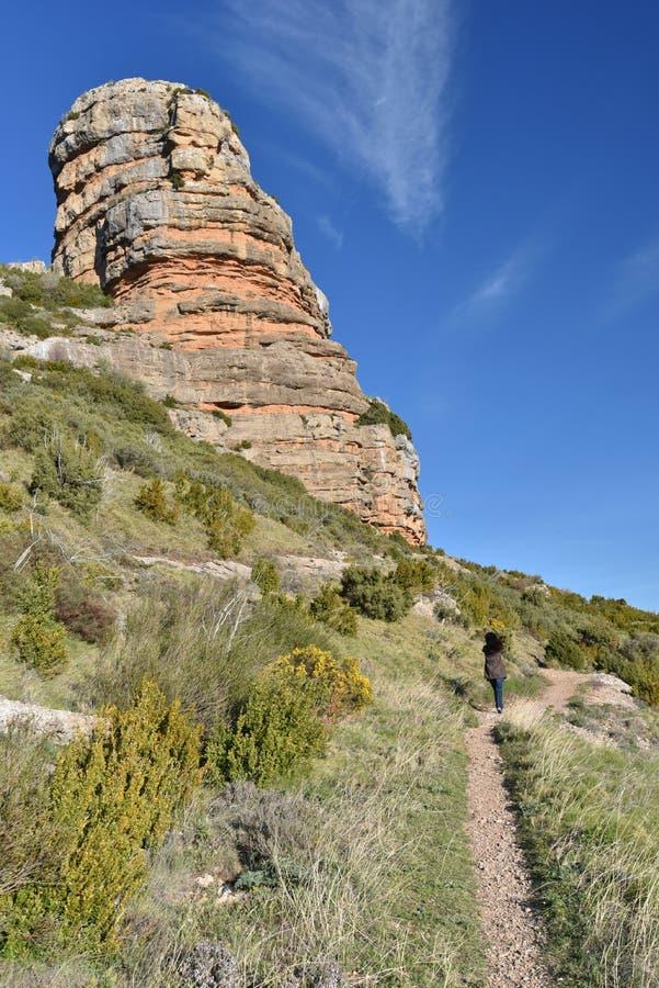 Turystyczny footpath na halnym Pena San Miguel zdjęcie royalty free