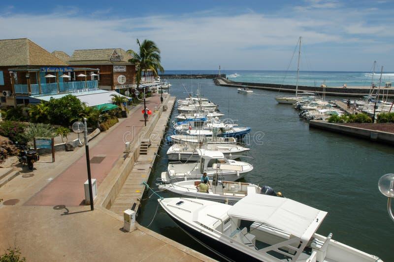 Turystyczny port święty Gilles na losu angeles spotkania wyspie, Francja obrazy stock