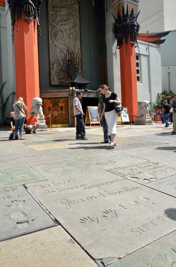 Turystyczny wizyty Hollywood bulwar w Los Angeles Kalifornia zdjęcie royalty free