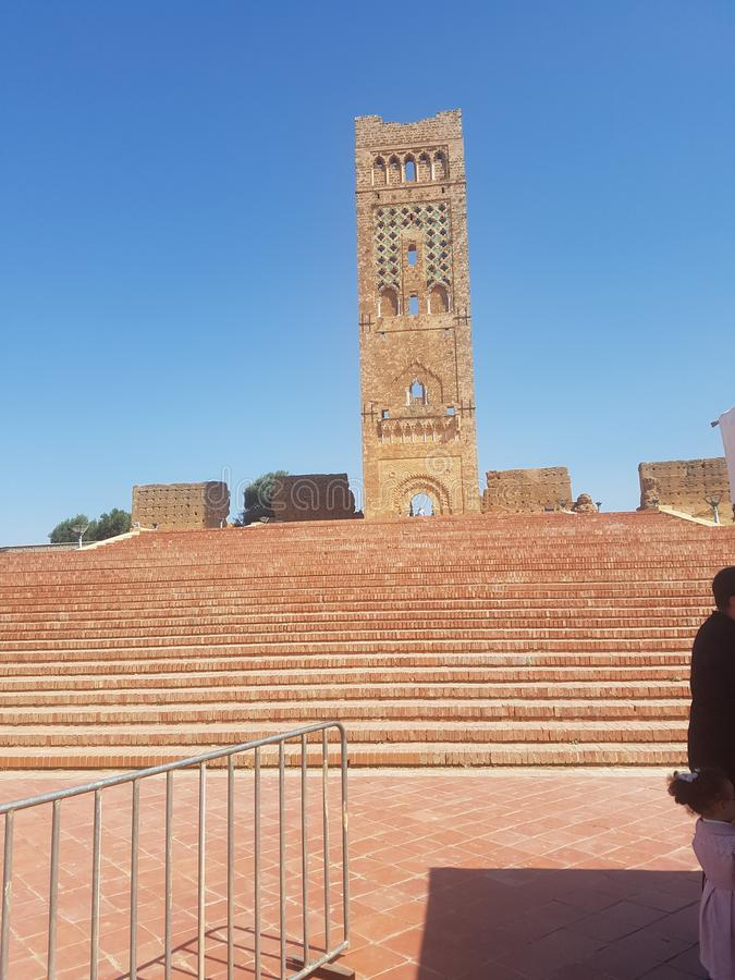 Turystyczny zabytek archeologiczny x22 & miejsce; Mansoura& x22; w mieście Tlemcen Algieria obrazy stock