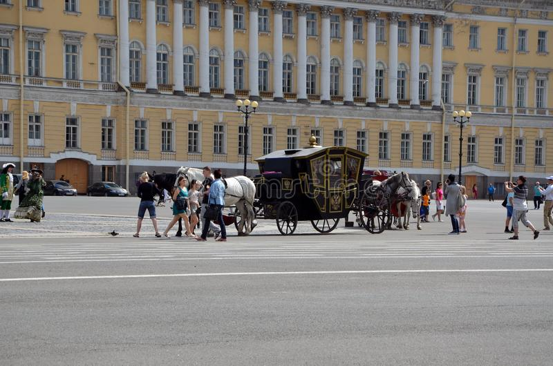 Turystyka w Petersburg, Rosja fotografia stock
