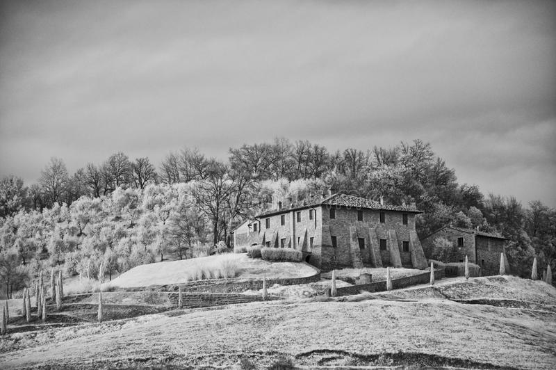 Download Tuscan Countryside By Infrared Stock Illustration - Illustration of landscape, horizon: 14952744