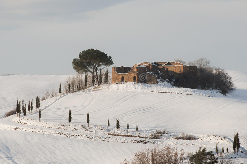 Tuscan landscape at winter royalty free stock images