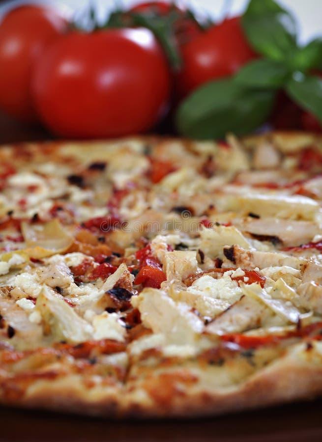 Tuscan Pesto Pizza Stock Photo
