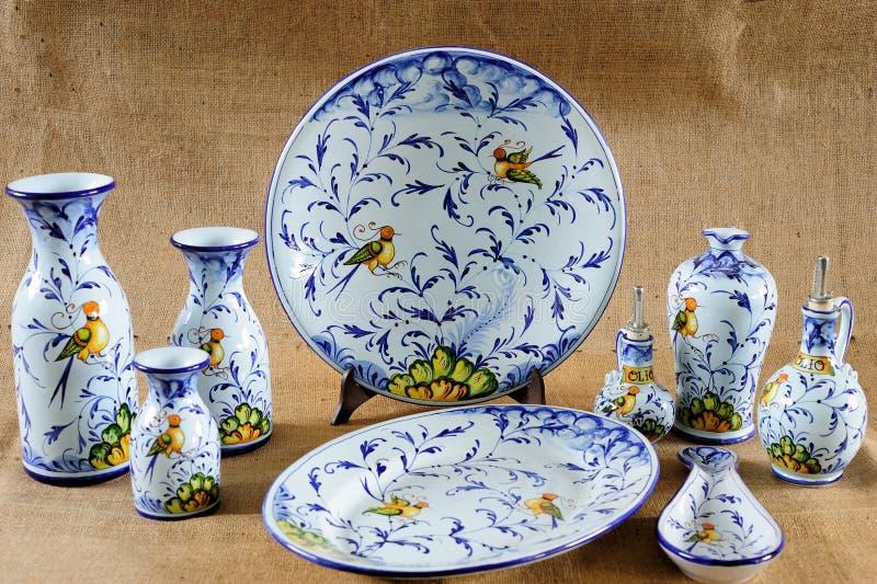 Tuscan Potteries fotos de stock