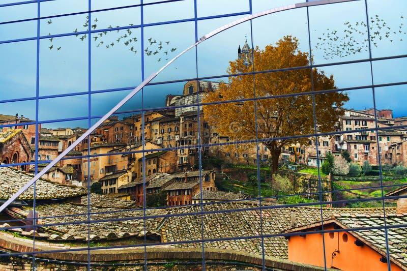 Tuscan reflection royalty free stock image