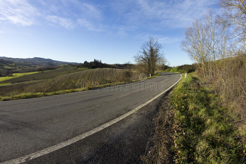 Download Tuscan Road stock photo. Image of blue, farm, highway - 28749788