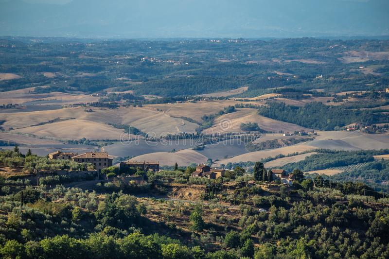 Tuscan Rural Landscape - Volterra, Tuscany, Italy stock images