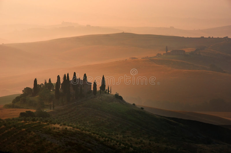 Tuscan scene royalty free stock photography
