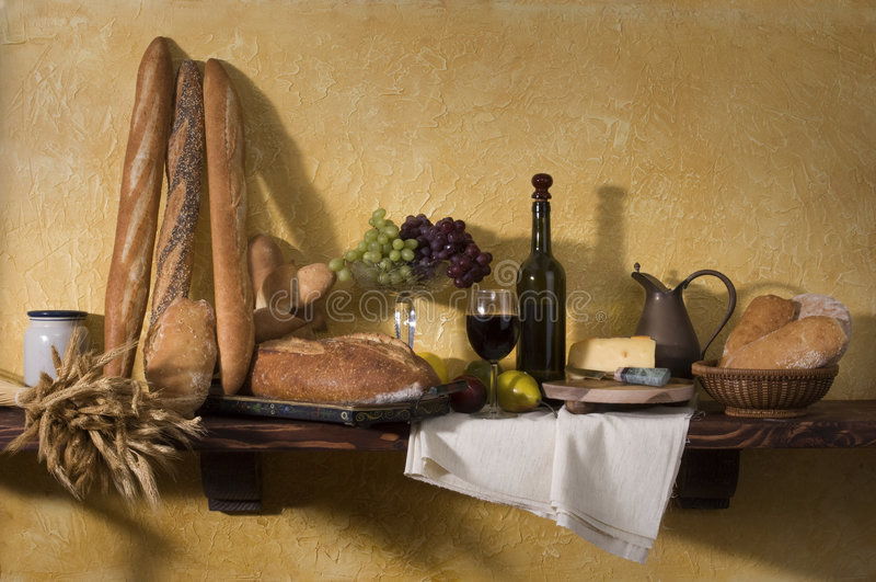 Tuscan Still Life stock images