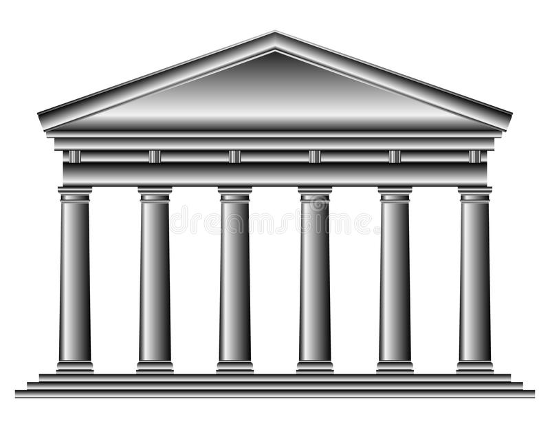 Tuscan temple royalty free illustration