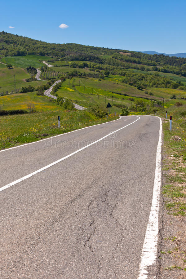 Download Tuscan View With Local Curve Road Stock Photo - Image: 25632676