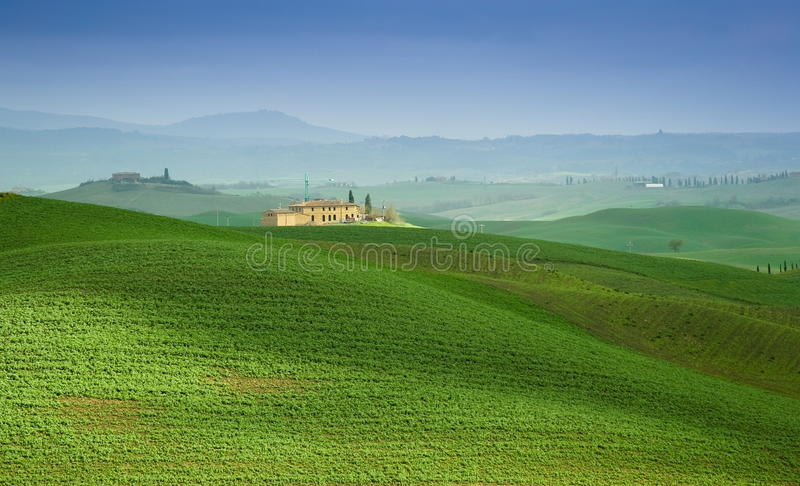 Tuscan villa stock photo