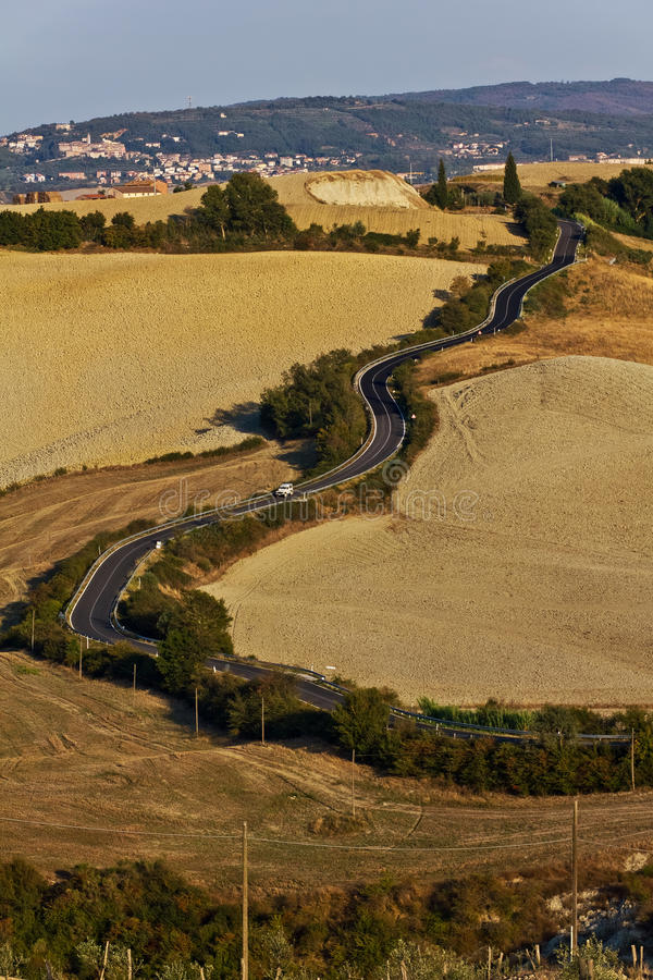 Tuscan Winding Roads stock photo