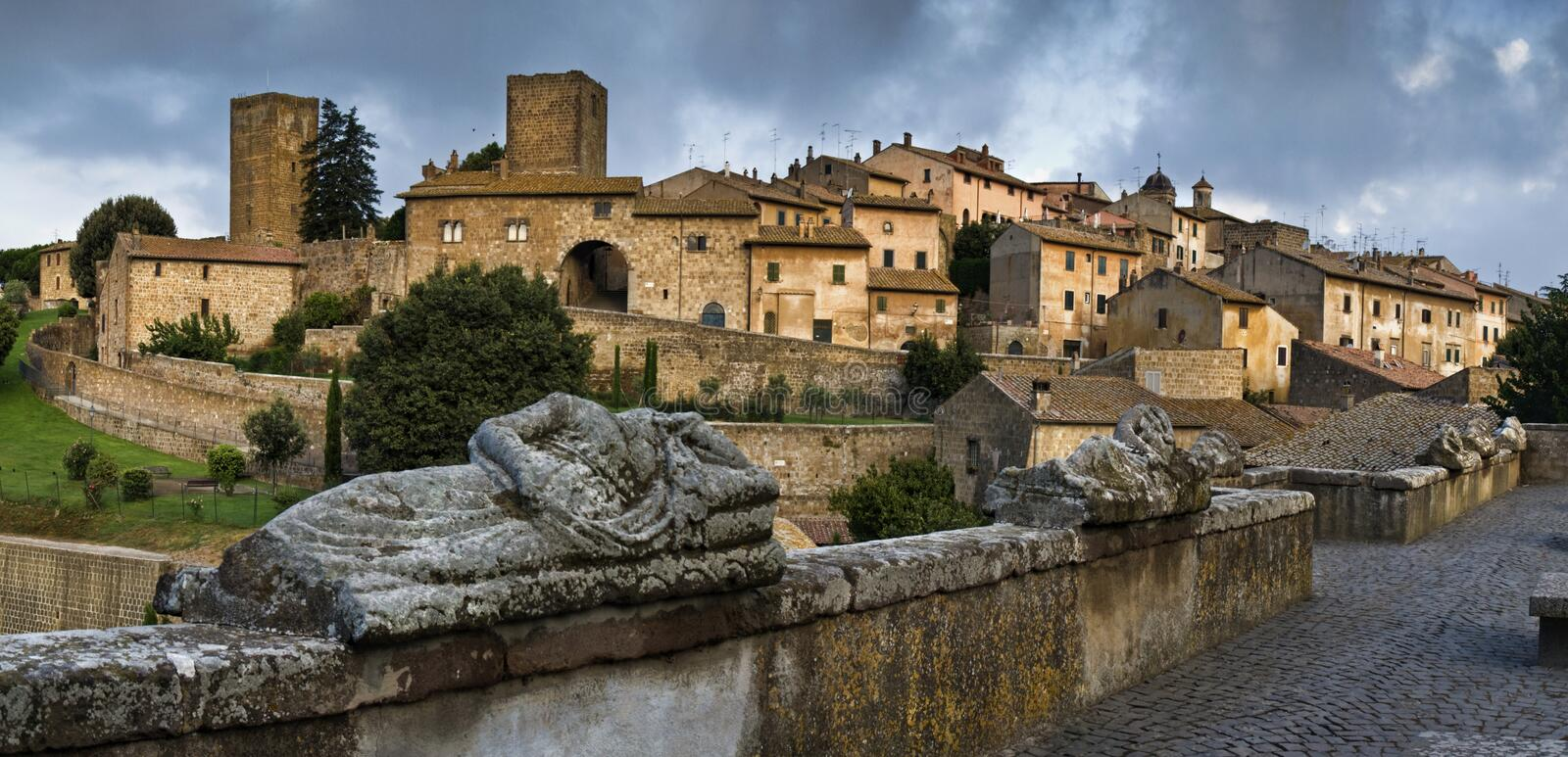 Tuscania, Lazio, Italy. Tuscania, one of the most beautiful town of northern Lazio, Italy stock photography
