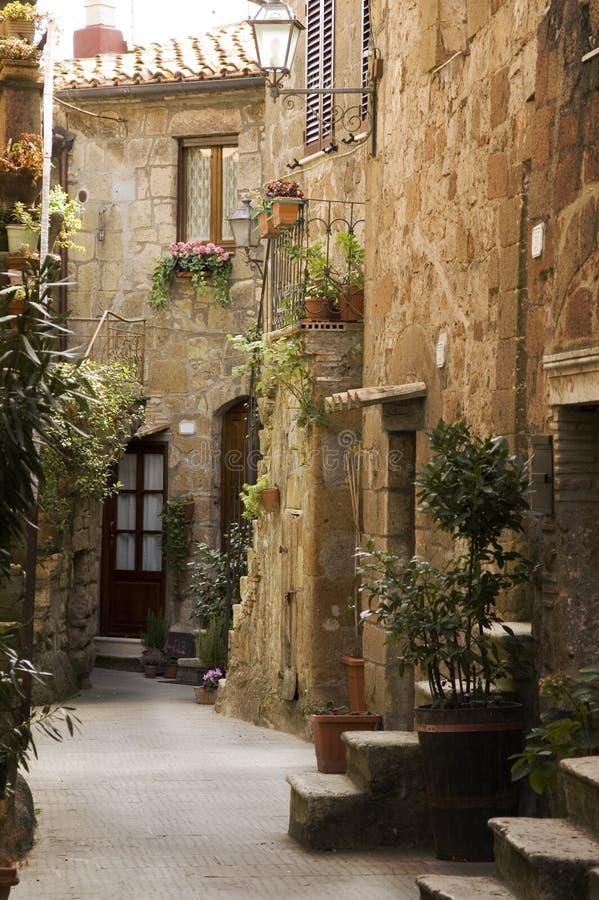 Tuscany alley stock photo