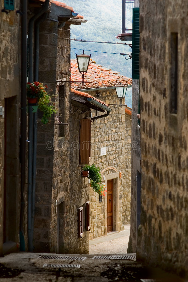 Tuscany alley royalty free stock photos