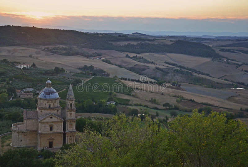 Tuscany architecture and landscape royalty free stock photo