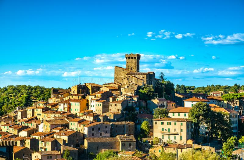 Tuscany, Arcidosso medieval village and tower. Monte Amiata, Grosseto, Italy. Europe stock photos