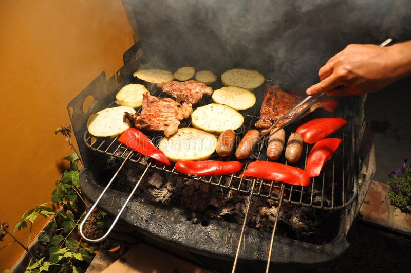 Tuscany Barbeque outdoors stock photography