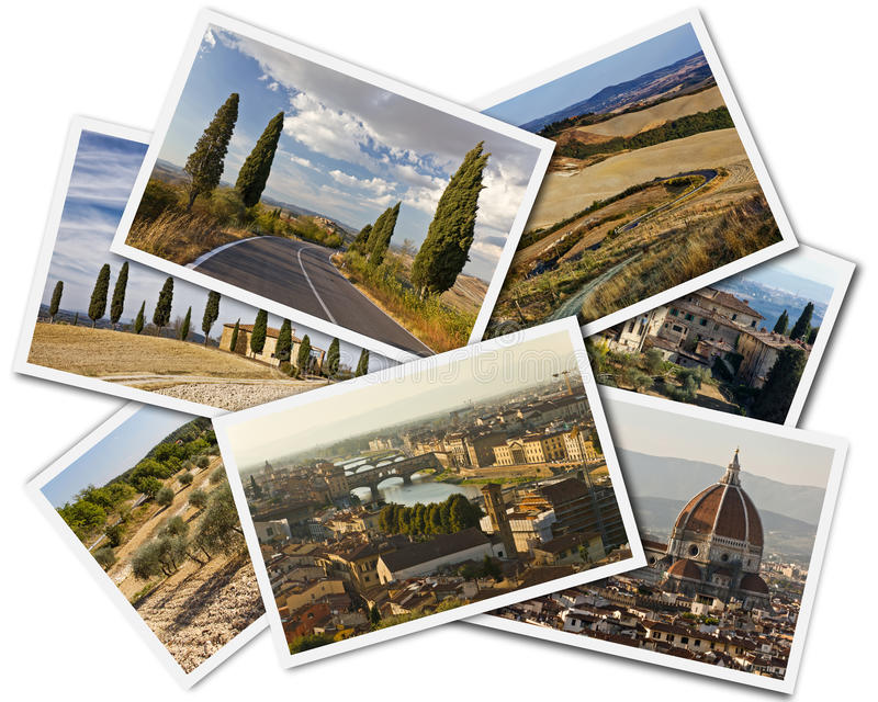 Tuscany Collage stock image