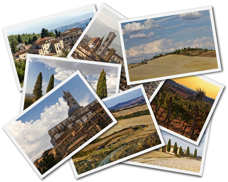 Tuscany Collage stock images