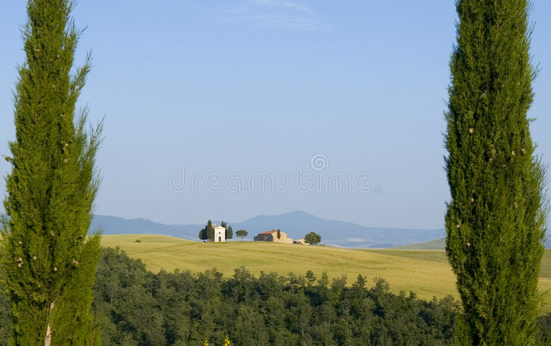 Download TUSCANY Countryside With Cypress And Farms Stock Photo - Image: 6309354