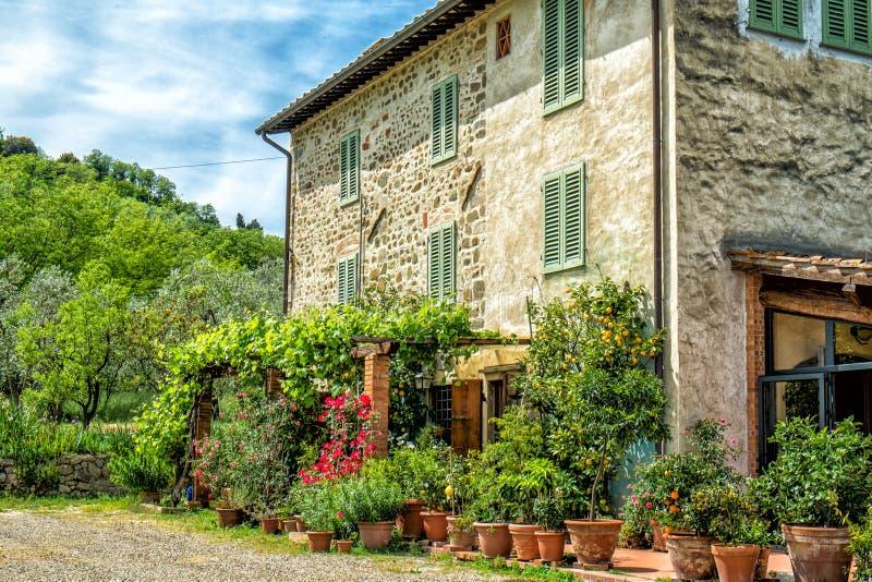 Tuscany dom wiejski obraz royalty free