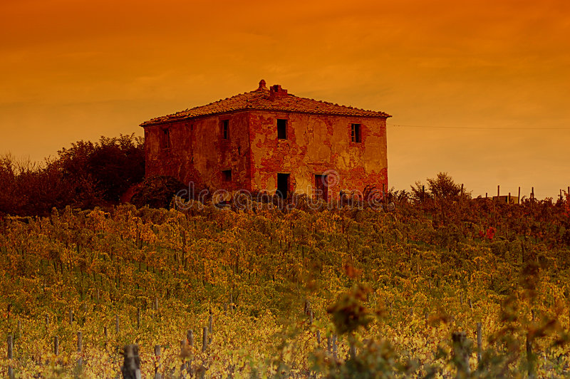 Tuscany in the evening royalty free stock photos