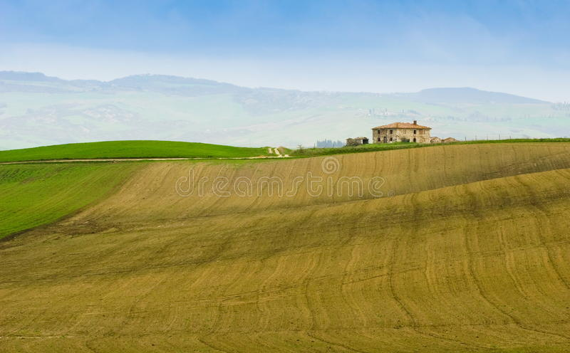 Tuscany farm stock photo