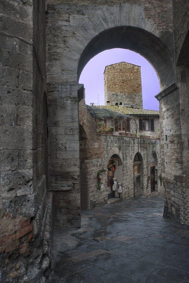 Free Tuscany: Foreshortening Of Pienza Stock Image - 47505041