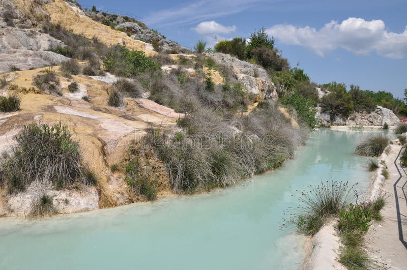 Tuscany, Hot Spring In Bagno Vignoni Stock Image - Image of site ...