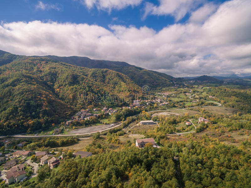 Tuscany, Italy, aerial view. Autumn in Tuscany, Italy, aerial view royalty free stock photos