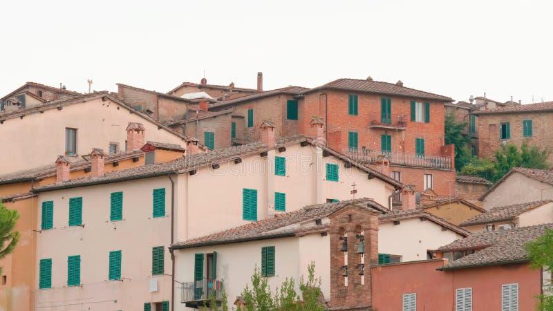 Tuscany, Italy. Beautiful houses. In Italy royalty free stock photos