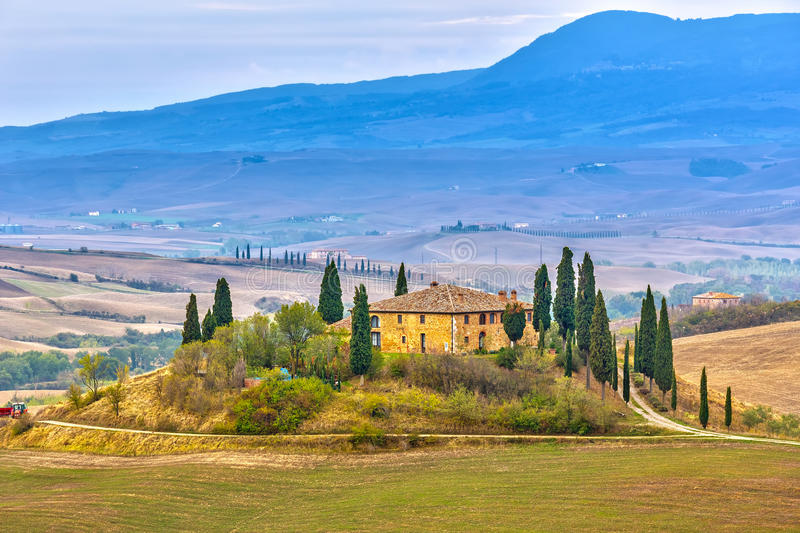 Download Tuscany landscape stock image. Image of italy, field - 38185417