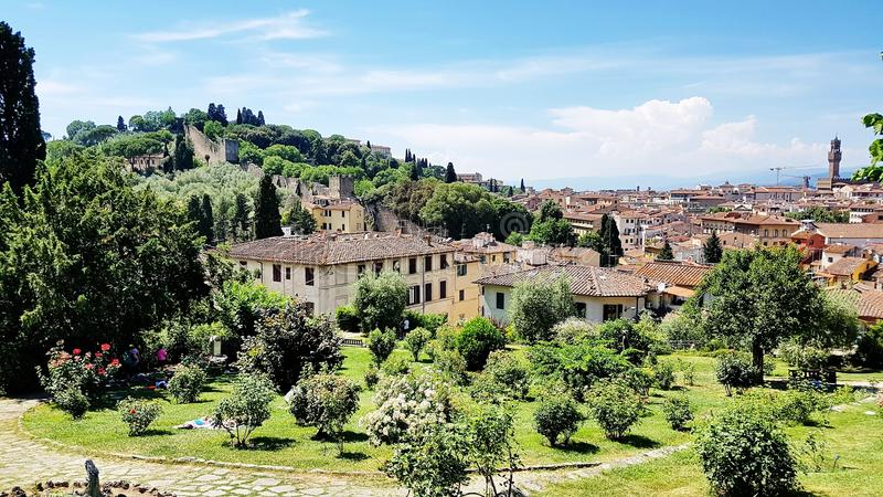 Tuscany landscape in Florence, Italy royalty free stock photo